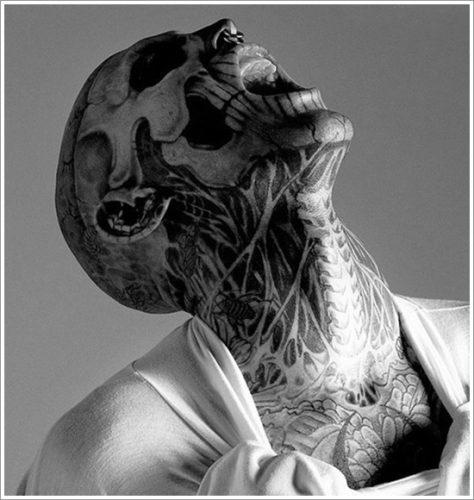 12 tatuajes en la cara
