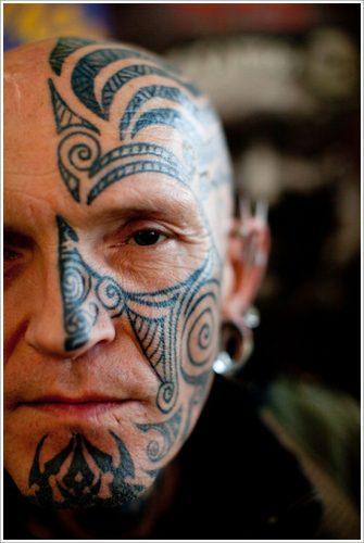 20 tatuajes en la cara