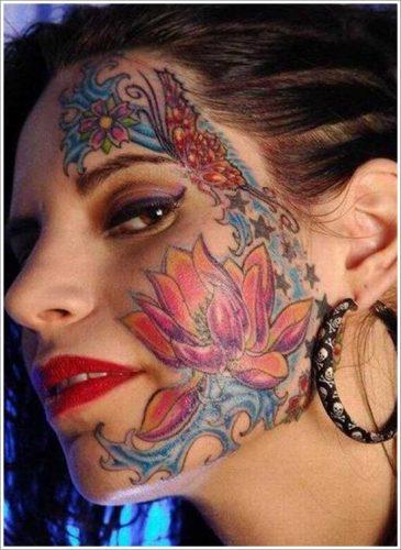 22 tatuajes en la cara