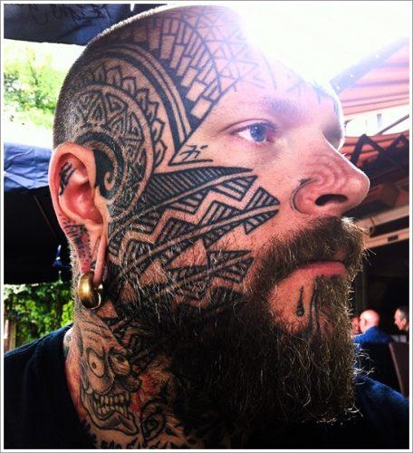 29 tatuajes en la cara