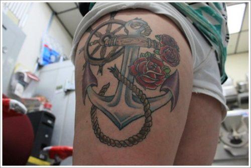 30 Diseños de tatuajes de anclas o áncoras y significados