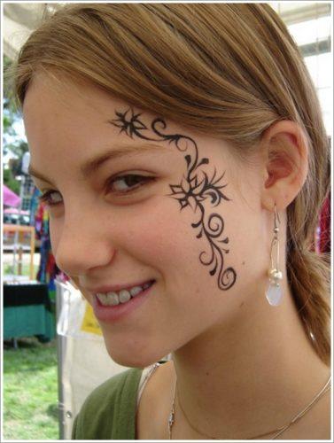 7 tatuajes en la cara