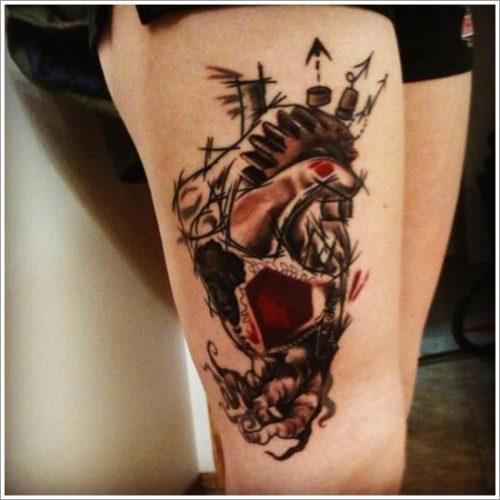 tatuajes en la pierna sexys para mujeres (1)