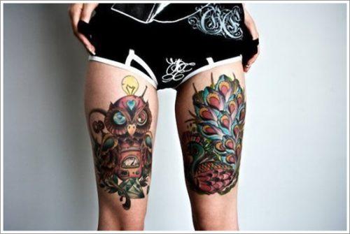tatuajes en la pierna sexys para mujeres (10)