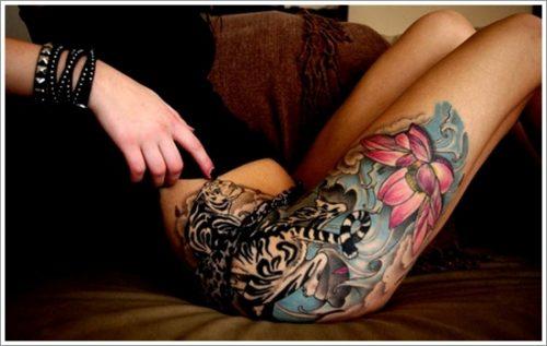 tatuajes en la pierna sexys para mujeres (14)