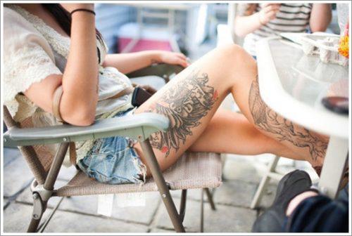 tatuajes en la pierna sexys para mujeres (17)