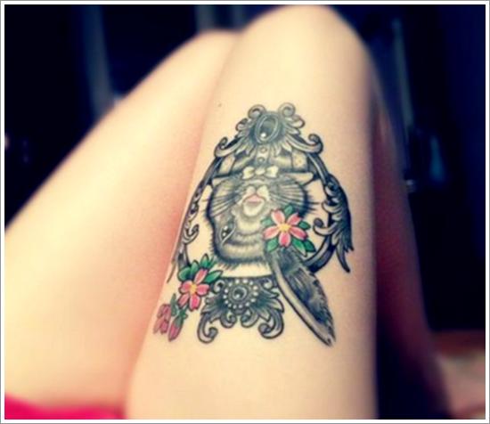 tatuajes en la pierna sexys para mujeres (2)