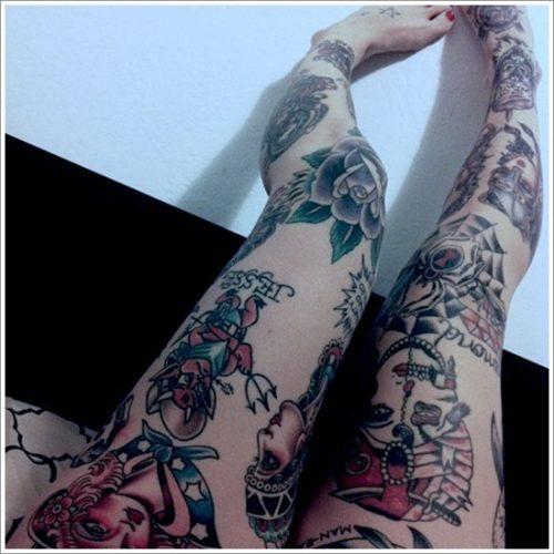 tatuajes en la pierna sexys para mujeres (33)