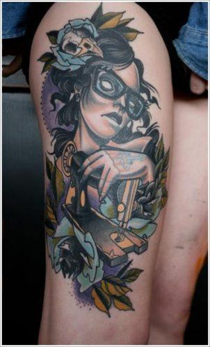 tatuajes en la pierna sexys para mujeres (5)