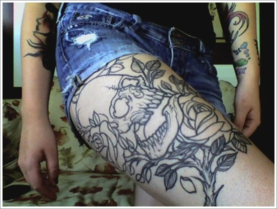tatuajes en la pierna sexys para mujeres (9)