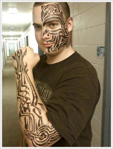 tatuajes tribales brazos 16
