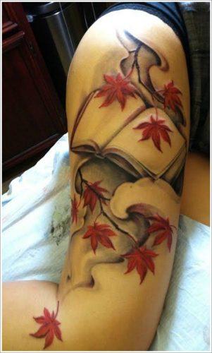 tatuajes de hojas2