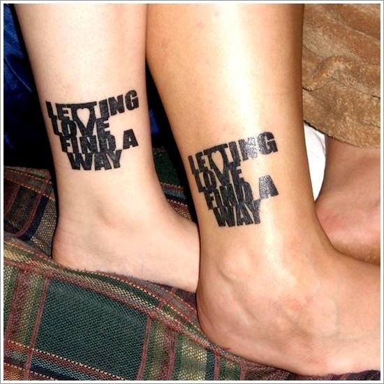 10 Love Quote Tattoos For Men Images And Pictures: 25 Tatuajes Para Parejas Originales