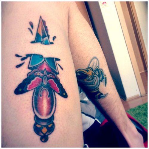 tatuajes cuchillos dagas19