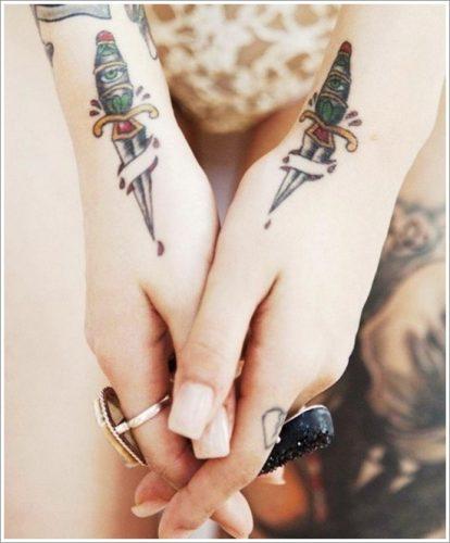 tatuajes cuchillos dagas24