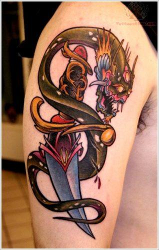 tatuajes cuchillos dagas29