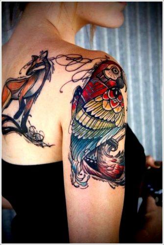 tatuajes de aves pajaros27
