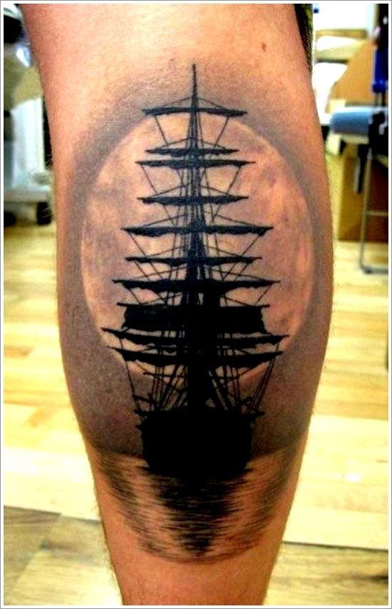 34 tatuajes de barcos incre bles. Black Bedroom Furniture Sets. Home Design Ideas