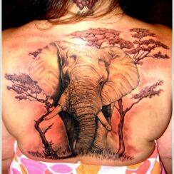 36 tatuajes de elefantes muy originales