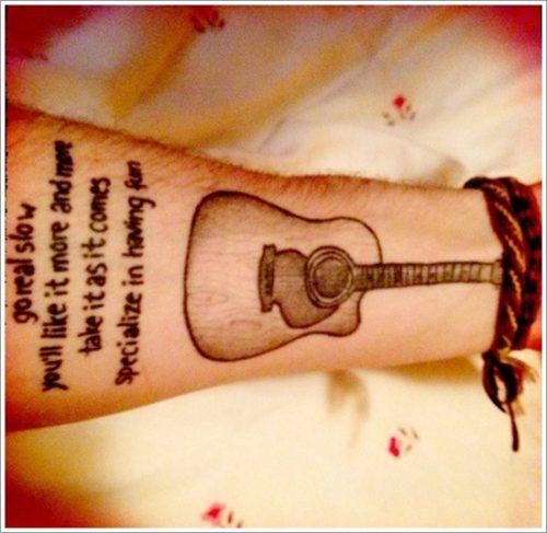 tatuajes de guitarras1