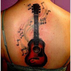 23 tatuajes de guitarras