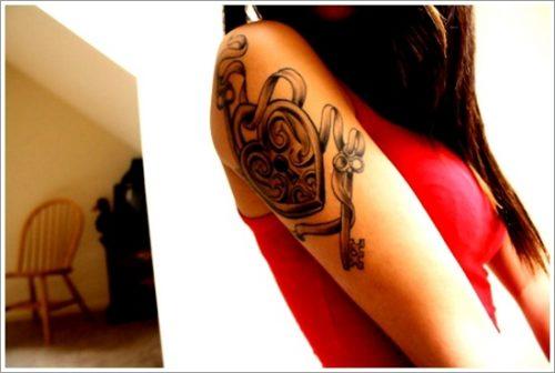 tatuajes de llaves y cerraduras15