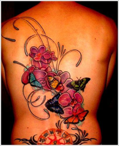 tatuajes de flores y orquídeas12