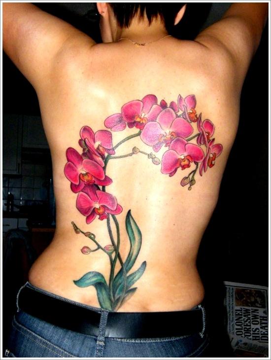 tatuajes de flores y orquídeas16