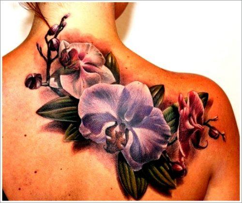 tatuajes de flores y orquídeas19