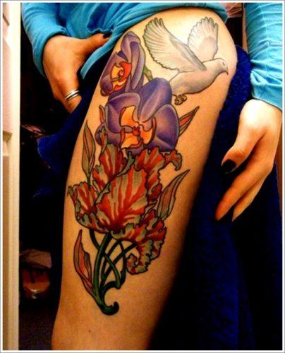 tatuajes de flores y orquídeas27