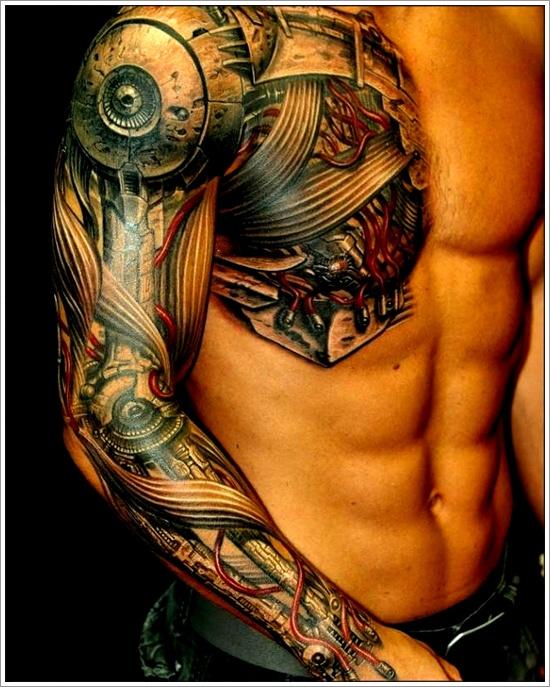 33 tatuajes biomecánicos, cuando las maquinas cobran vida