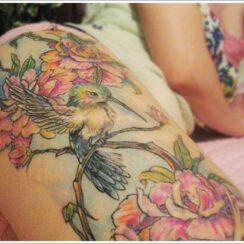 35 diseños de tatuajes de colibrí