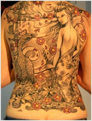 43 tatuajes de gheisas tradicionales11