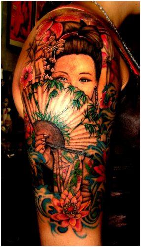 43 tatuajes de gheisas tradicionales12