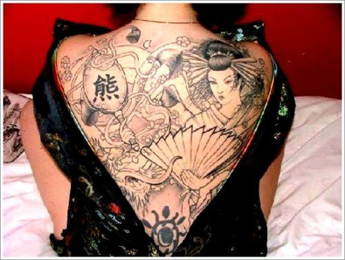 43 tatuajes de gheisas tradicionales16