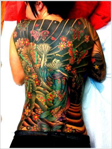 43 tatuajes de gheisas tradicionales17