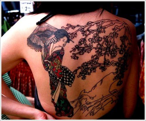 43 tatuajes de gheisas tradicionales18