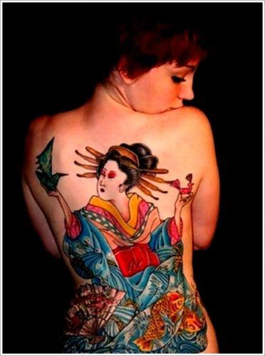 43 tatuajes de gheisas tradicionales19