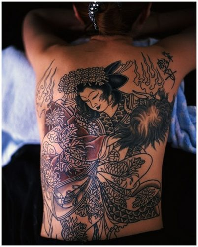 43 tatuajes de gheisas tradicionales2