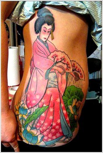 43 tatuajes de gheisas tradicionales38