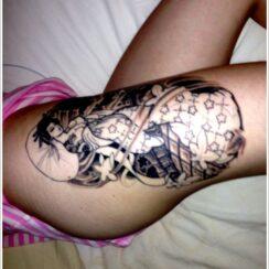 43 tatuajes de geishas tradicionales
