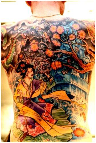 43 tatuajes de gheisas tradicionales8