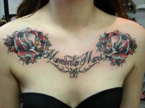 tatuajes en el pecho pectoral para mujeres16