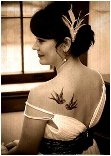 tatuajes de golondrinas y gorriones14