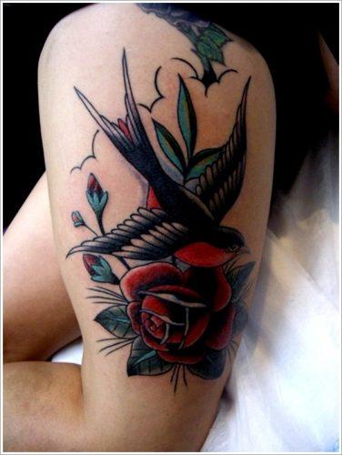 tatuajes de golondrinas y gorriones29