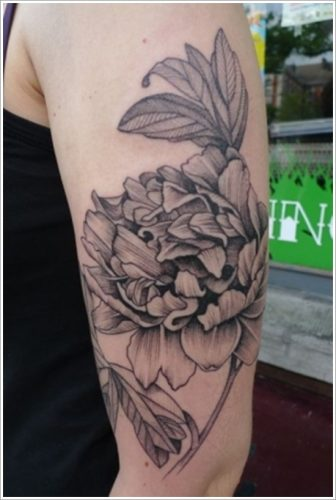 tatuajes flor peonia peony1
