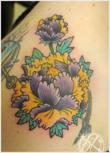 tatuajes flor peonia peony10