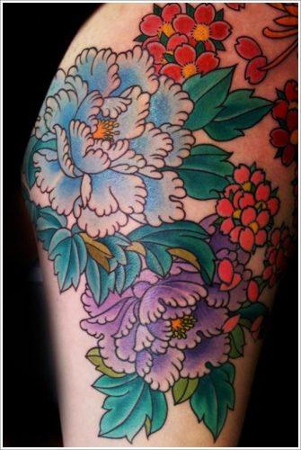 tatuajes flor peonia peony11