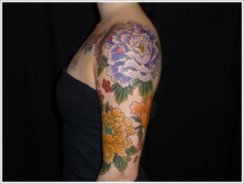 tatuajes flor peonia peony16