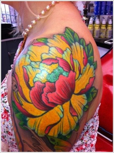 tatuajes flor peonia peony17